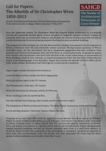 Call for Papers: The Afterlife of Sir Christopher Wren 1850
