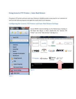 The generic FTP printer and auto-mail return
