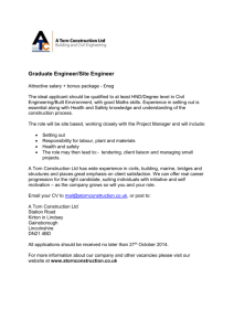 Graduate Site Engineer