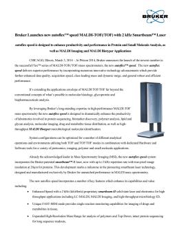 Instructions for Use - Bruker Guide to MALDI Sample Preparation