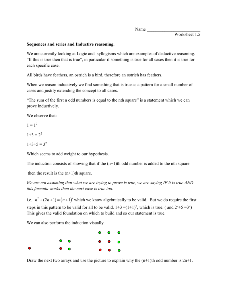 Uncategorized Inductive Reasoning Worksheet 1 3 9 27 81
