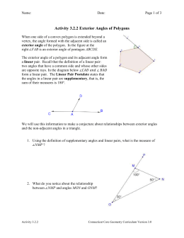 Activity 3.2.2 Exterior Angles of Polygons