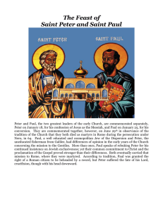 St. Peter and St. Paul, Apostles