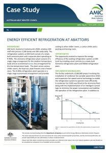 Energy Efficient Gains with Refrigeration