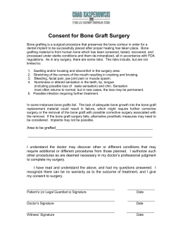 Extraction and Bone Graft Consent form