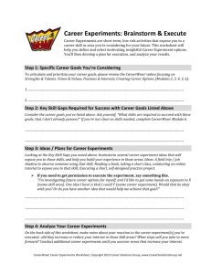 Module Worksheet - Career Solutions Group