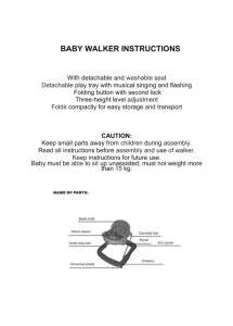 baby walker instructions