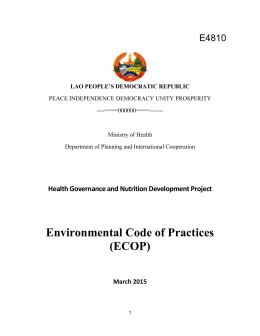 Health Governance and Nutrition Development Project