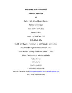 Mississippi Bulls Invitational Summer Shoot Out