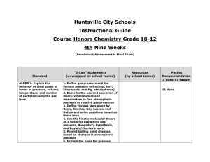 Huntsville City Schools Instructional Guide Course Honors