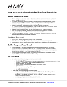 Local government submission to Bushfires Royal Commission