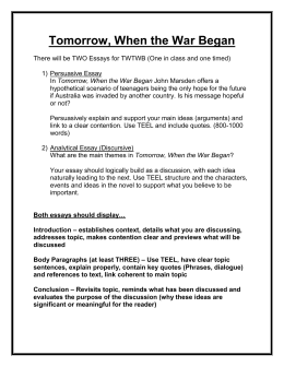 How To Write An Essay High School Tomorrow When The War Began High School Experience Essay also Thesis In An Essay Year  Mockingbird Essays How Todoc Abortion Essay Thesis