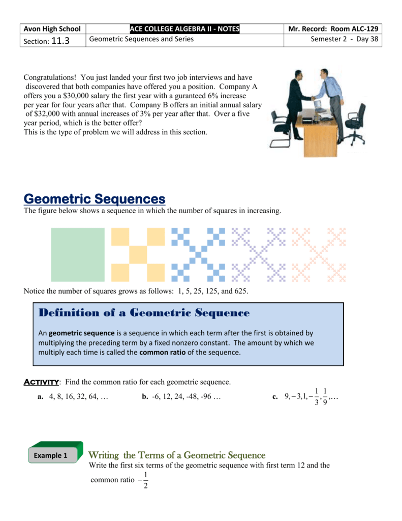 11 3 - Geometric Sequences and Series