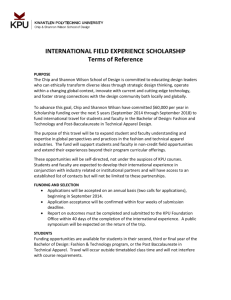 INTERNATIONAL FIELD EXPERIENCE SCHOLARSHIP Terms of