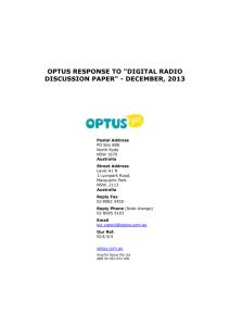 Optus SatTalk Services Service Description