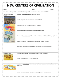 New Centers of Civilizaation Graphic Organizer