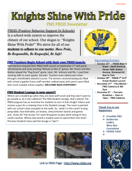 PBSIS Newsletter - Franklin Board of Education