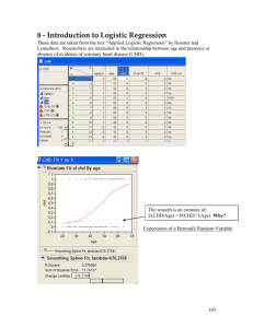 Logistic Regression ~ Handout #1