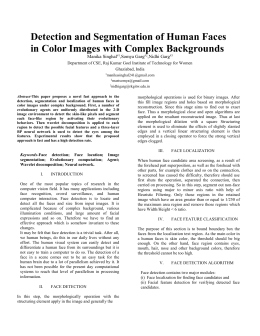 Detection and Segmentation of Human Faces in Color Images with