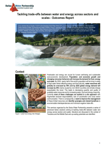 Outcomes Report - Swiss Water Partnership