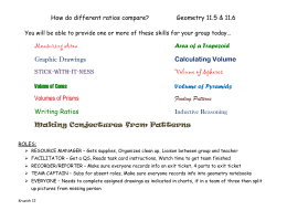 How do different ratios compare? Geometry