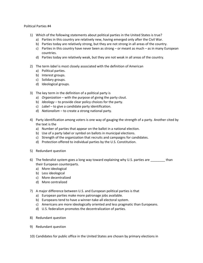 worksheet The Populist Movement The Value Of Third Parties Worksheet Answers political parties 4 which of the following statements about political