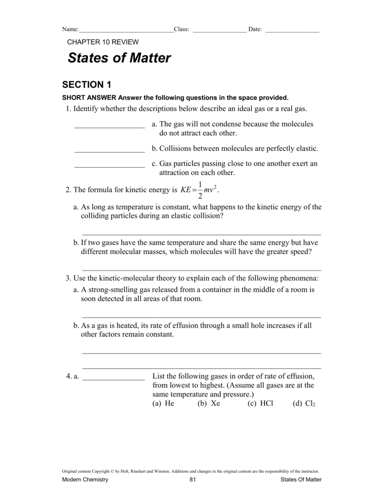 330.10.Worksheets.Modern Chem Textbook