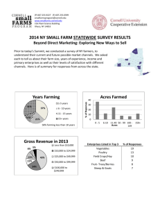 2014 NY Small Farm Statewide Survey Results