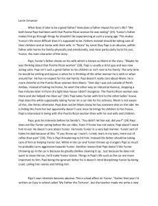 Fiesta Essay - writingisourpower
