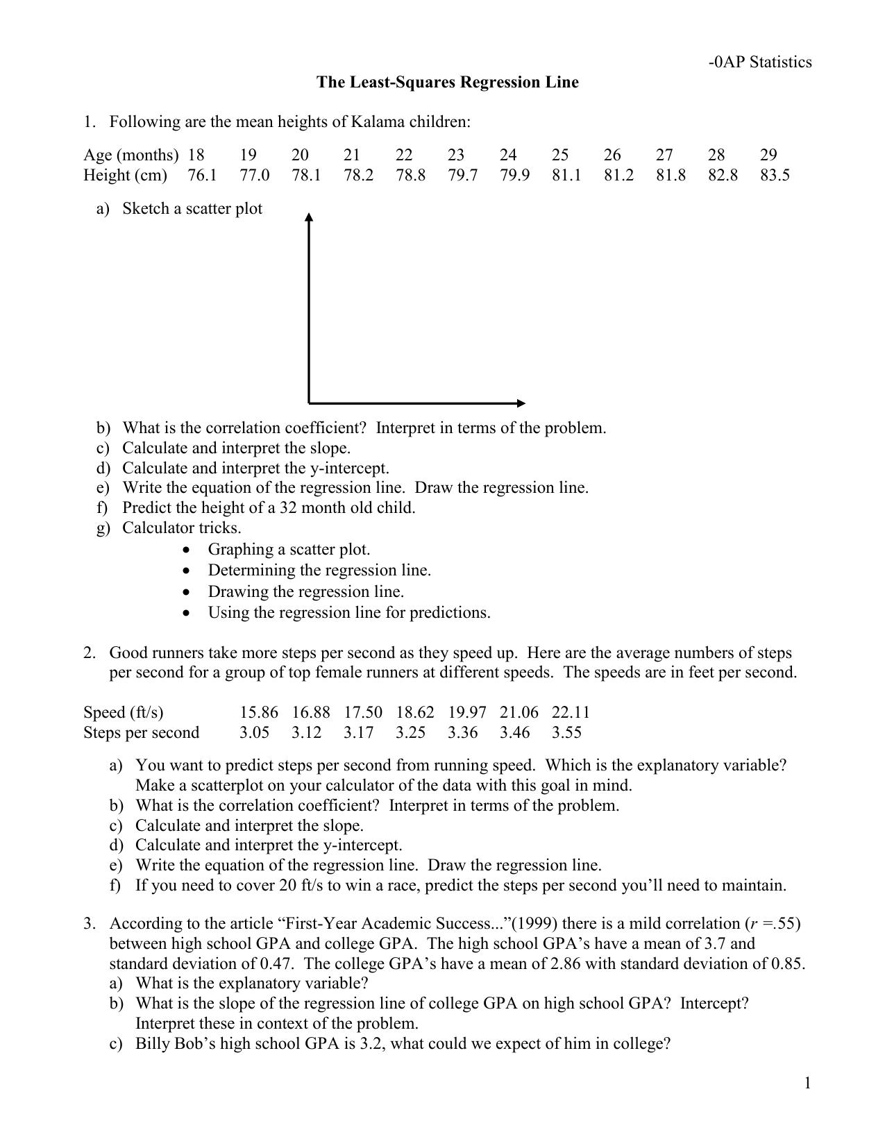 Least-Squares Regression part 4
