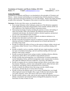 Chemistry and Physics 9 Syllabi - Mukwonago Area School District