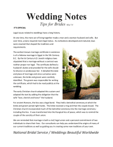 Wedding Notes Tips for Brides