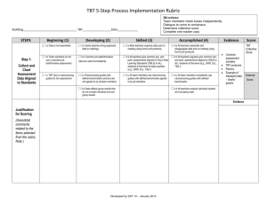 TBT 5-Step Process Implementation Rubric