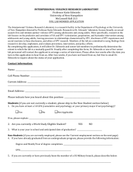 application - University of New Hampshire