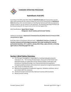 STANDARD OPERATING PROCEDURE Hydrofluoric Acid (HF)