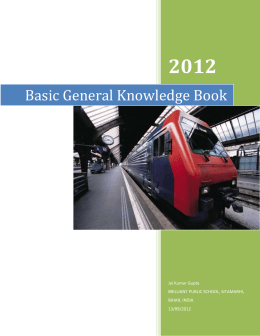 Basic General Knowledge Book - Brilliant Public School Sitamarhi