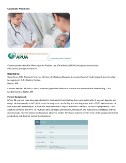 Case Study: Pneumonia Content produced by the Alliance for the
