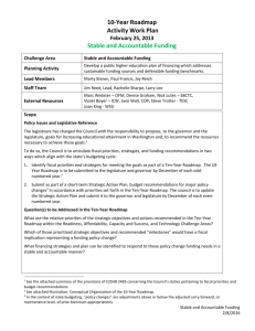Stable and Accountable Funding 3-28