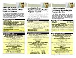 Low Cost or Free Psychiatric Health Facility Program Services