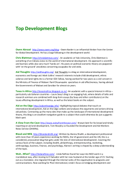 Top 10 development blogs - Council for International Development