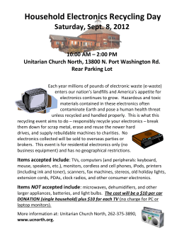 Electronics Recycling Event Flyer 9-8-2012