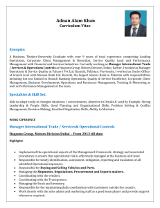 ADNAN KHAN Updated CV 2015