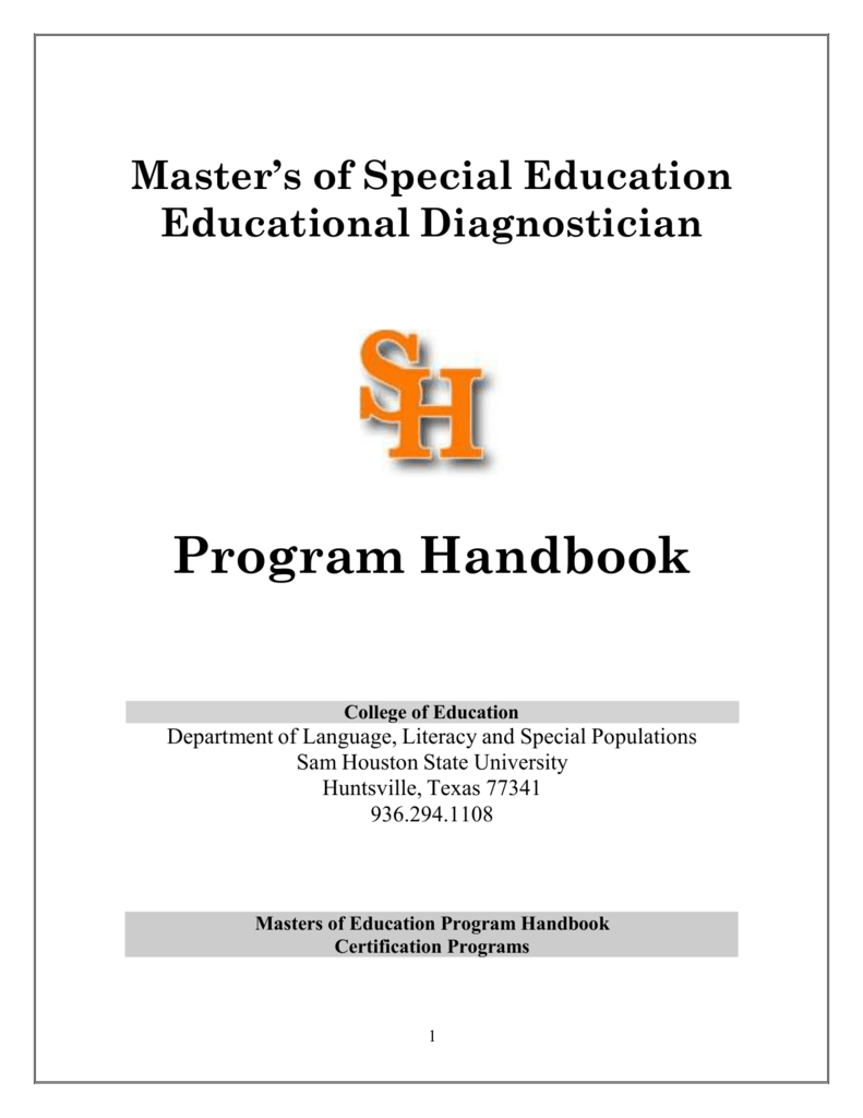 Masters Of Special Education Educational Diagnostician Program