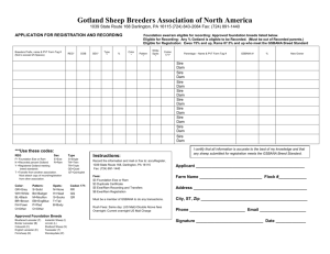 Record/Registration Form - Gotland Sheep Breeders of North America