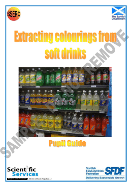 Teachers resource: Extracting colourings from soft drinks