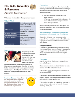Autumn 2011Newsletter - Beaumont Lodge Medical Practice