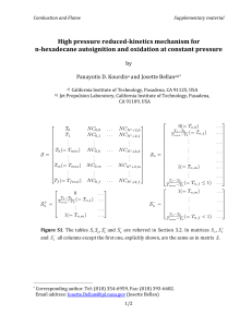 High-pressure reduced-kinetics mechanism for n