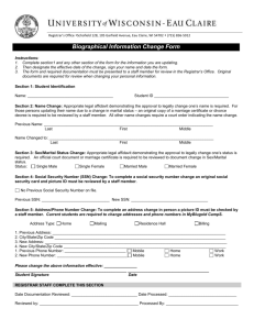Biographical Information Change Form