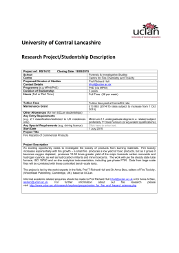 description and specification - University of Central Lancashire
