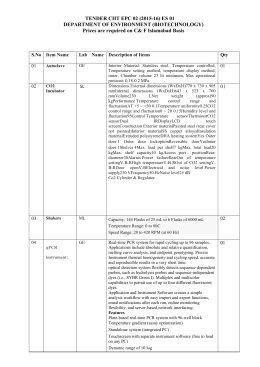 tender specification for equipment, tender ciit epc 02 (2015